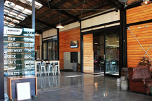 Monteith's Brewery and all-new visitors centre in Greymouth has a cafe and a bar. Photo / Supplied