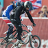 Sarah Walker in the final of the Women Cycling BMX. Photo / Brett Phibbs