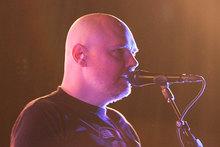 Billy Corgan performs at Vector Arena on Saturday night. Photo / Jenna Todd
