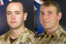 The fallen soldiers - Pralli Durrer (left) and Rory Malone. Photo / supplied