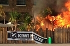 Hundreds of New Zealanders escaped from Kiwi House in London unscathed before a gas bottle exploded this morning. The fire started at approximately 7.30pm UK time (6.30am NZT).