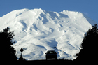Skiers head home after a day on Mount Ruapehu. Photo / Alan Gibson