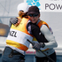 Olivia Powrie, left, Jo Aleh, hugging after crossing the finish line winning the gold medal. Photo / Mark Mitchell