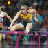 Australian Sally Pearson on her way to the gold medal in the100m hurdles final. Photo / Mark Mitchell