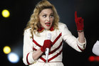 Madonna performs during a concert in Kiev.  Photo / AP