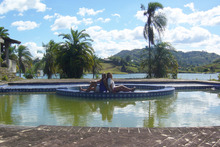 The swimming pool at Pablo Escobar's former holiday mansion. Photo / Amy Rosenfeld