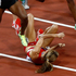 United States' Morgan Uceny falls as Kenya's Hellen Onsando Obiri and Ethiopia's Abeba Aregawi try to avoid her. Photo / AP