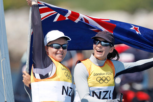 The success of Jo Aleh and Olivia Powrie highlight what has been a highly successful Olympic sailing campaign for New Zealand. Photo / Mark Mitchell NZ Herald