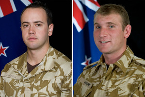 Lance Corporal Pralli Durrer and Lance Corporal Rory Malone. Photo / Supplied