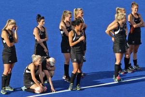 The women have to get up again against the Brits after a harrowing loss to the Netherlands. Photo / Brett Phibbs