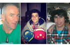 The missing are (from left) Bryce John Jourdain, 42, Joao Felipe Martin and Stephen Kahukaka-Gedye, both 17. Photos / Supplied