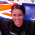 Sarah Walker wins the silver medal in the final of the Women Cycling BMX. Photo / Brett Phibbs