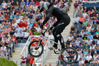 Sarah Walker will race in the BMX semifinals at 2.08am with the final taking place at 3.40am. Photo / Mark Mitchell