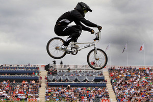 New Zealand BMX rider Marc Willers has qualified impressively for the semifinals of his event at the London Olympics. Photo / Mark Mitchell NZ Herald