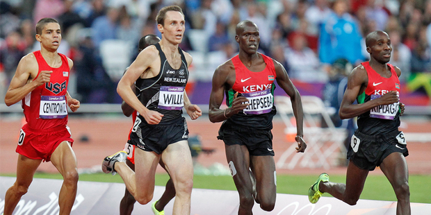 Nick Willis cruising home in his Olympic Games 1500m semi-final. Photo / Mark Mitchell