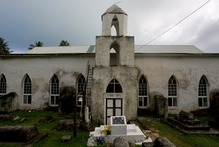 Aitutaki' Ziona Tapu Church. Photo / Richard Robinon