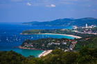 The view over Phuket down to Patong, where the nightclub fire claimed the lives of four people. Photo / file