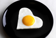 Eggs yolks cause plaque to build up which can result in heart problems.