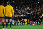 When the All Blacks open their Rugby Championship campaign tomorrow night against Australia it will be the 12th time the sides have met at ANZ Stadium. Photo / Getty Images.