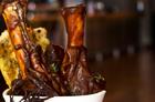 Lamb shanks on the menu at Citizen Q. Photo / Babiche Martens