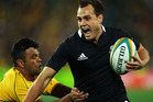 Israel Dagg of the All Blacks runs the ball during The Rugby Championship Bledisloe Cup match between Australia and New Zealand. Photo / Getty Images.