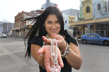 Renata Harper sells jewellery wholesale in Christchurch. Photo / APN