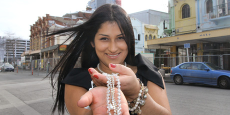 Renata Harper sells jewellery wholesale in Christchurch. Photo / APN