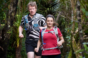 Shaun Collins and Vicki Wooley are ultra-distance runners who regularly run the Hillary Trail through the Waitakeres.  Photo / Natalie Slade