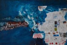 Manu Bennett bought the painting Te Whai A Te Motu.  Pictures / Brett Phibbs