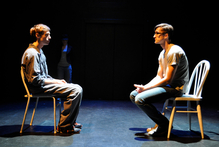 Actors Leon Wadham and Martyn Wood perform in The Laramie Project: 10 Years Later.
