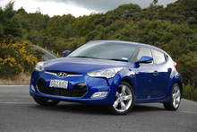 Beneath its head-turning exterior, Hyundai's Veloster is a treat for keen drivers. Photo / Jacqui Madelin