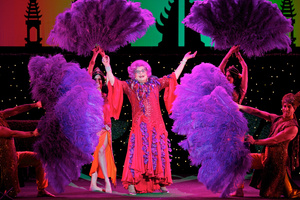Dame Edna had the crowd in stitches. Photo / Supplied