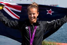 Lisa Carrington after winning the K1 200m women's canoe sprint. Photo / Brett Phibbs