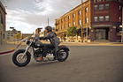 Harley has pared back the gadgets for the low-riding Softail Slim but the bike makes the most of its muscle.
