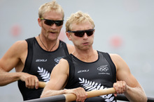 Water-based sports contributed all five gold medals won by New Zealanders, including Eric Murray and Hamish Bo
