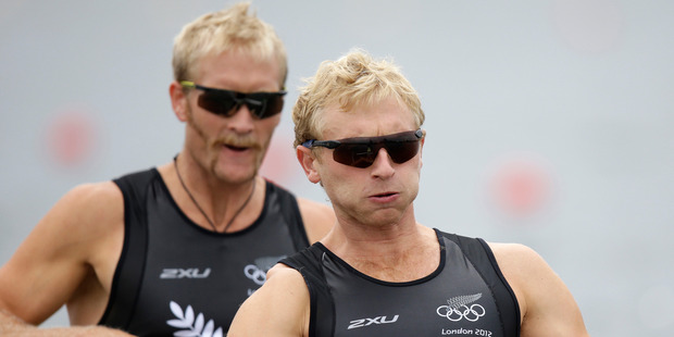 Water-based sports contributed all five gold medals won by New Zealanders, including Eric Murray and Hamish Bond in the men's pair. Photo / AP