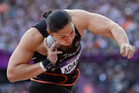 Valerie Adams has backed up her Olympic gold with an easy win in Stockholm. Photo / AP