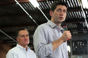 Some campaigners say Mitt Romney (left) could alienate voters with his choice of Paul Ryan (right). Photo / AP