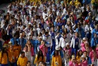 Athletes from around the world march in the Olympic Stadium during the closing ceremony. Photo / AP