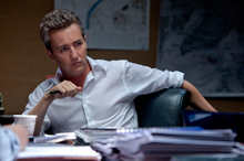 Edward Norton brings his trademark seriousness to his latest role as the villain in The Bourne Legacy.