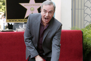 Singer Neil Diamond has been honoured him with a star on the Hollywood Walk of Fame. Photo / AP