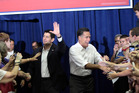 Republican presidential candidate, former Massachusetts Gov. Mitt Romney, right and vice presidential running mate Rep. Paul Ryan. Photo / AP