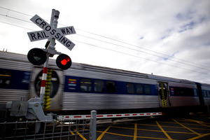 A national campaign is urging pedestrians and drivers to be careful as Rail Safety Week begins. Photo / Dean Purcell