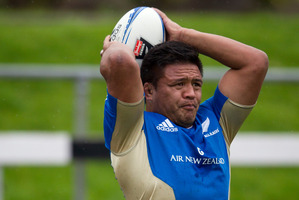 Injuries hampered his Blues season, but hooker Keven Mealamu is now fit, fresh and eager to resume his All Black duties against the Wallabies tonight. Picture / Brett Phibbs