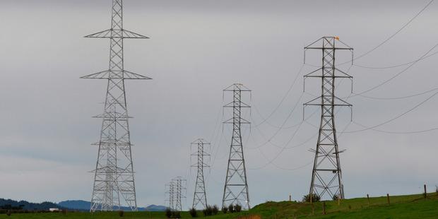 Transpower pylons at Mangatawhiri. Photo / Brett Phibbs