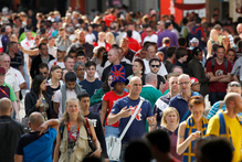 Crowds of spectators the London 2012 Olympic Games. Photo / Mark Mitchell