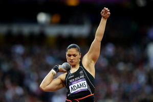 Valerie Adams during the shot put at the London Olympics. She has since been awarded the gold medal. Photo / Mark Mitchell