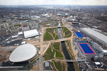 Aerial view of the Olympic Park. Photo / LOCOG