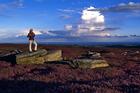 A walker enjoys the Yorkshire moors. Photo / Visit Britain