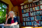 Anne Salmond, academic historian and author, pictured in the library of her Stanley Point home. Photo / Sarah Ivey